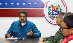 Nicolás Maduro said: 'We are facing a group of monsters who want to destroy Venezuela.'