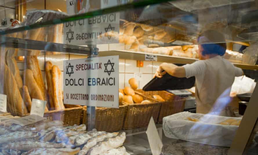 Kosher bread in the Paneterria Volpe Kosher bakery in Ghetto Vecchio.