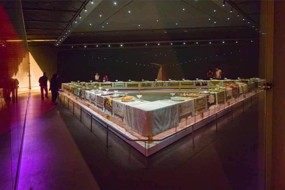 Judy Chicago's The Dinner Party at the Brooklyn Museum of Art in 2016.