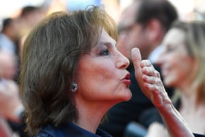 British actress Jacqueline Bisset blows a kiss as she arrives for the screening of Based on a True Story