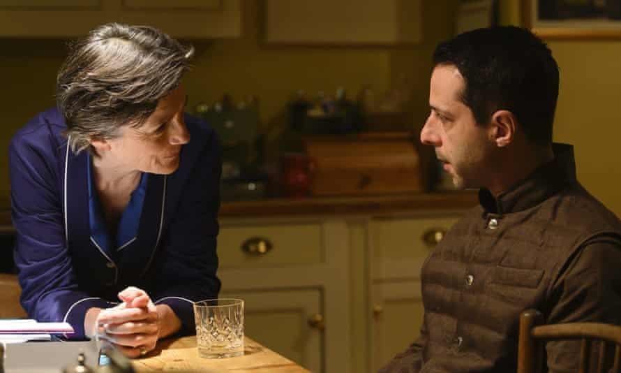 Harriet Walter with Jeremy Strong in a scene from Succession.