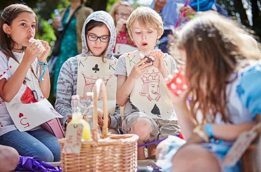 A treasure hunt at the Port Eliot festival, Cornwall.