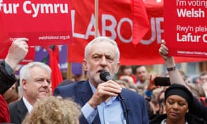 Jeremy Corbyn campaigning in Cardiff during April.