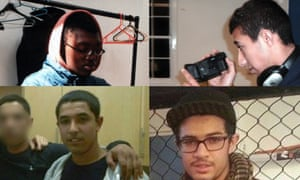 Clockwise from top right: brothers Abdullah, Jaffar and Amer Deghayes and their friend Ibby Kamara.