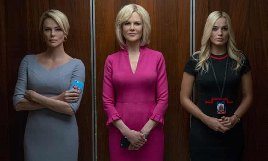 From left, Charlize Theron, Nicole Kidman and Margot Robbie in Bombshell.