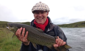 What a whopper: Ruaridh Nicoll with his 6lb trout