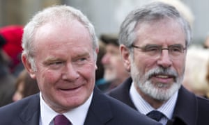 Martin McGuinness with Gerry Adams, 2014
