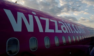 A Wizz Air Airbus aircraft pictured at the London Luton Airport