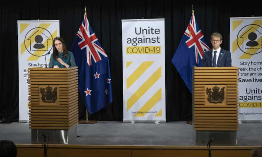"""Study respondents gave Jacinda Ardern and health director general Dr Ashley Bloomfield """"high praise"""" for their leadership during the coronavirus crisis."""