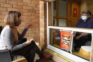 Libby Brooks speaks to Heather Brown at Meldrum House