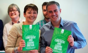 Green party co-leaders Caroline Lucas and Jonathan Bartley