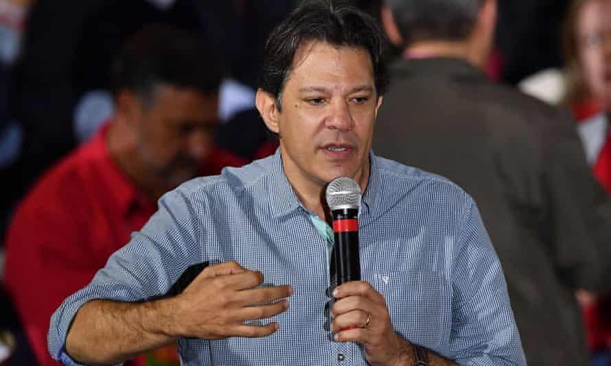 Brazil's Workers' party has named former mayor of São Paulo, Fernando Haddad, as its backup should jailed ex-president Luiz Inácio Lula da Silva be barred from running.