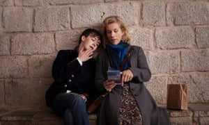 The British art of not really talking about stuff … Alex Lawther and Juliet Stevenson in Departure