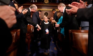 Ruth Bader Ginsburg arrives for Barack Obama's address to a joint session of Congress on 24 February 2009.