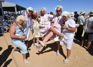 Racegoers' appetite for dressing up hasn't diminished ahead of the second day of racing