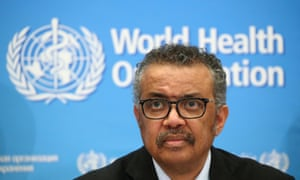 FILE PHOTO: WHO news conference on the novel coronavirus (COVID-2019)<br>FILE PHOTO: Director-General of the WHO Tedros Adhanom Ghebreyesus, attends a news conference on the coronavirus (COVID-2019) in Geneva, Switzerland February 24, 2020. REUTERS/Denis Balibouse/File Photo
