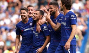 Eden Hazard scored a hat-trick for Chelsea, who came back from 1-0 down against Cardiff.