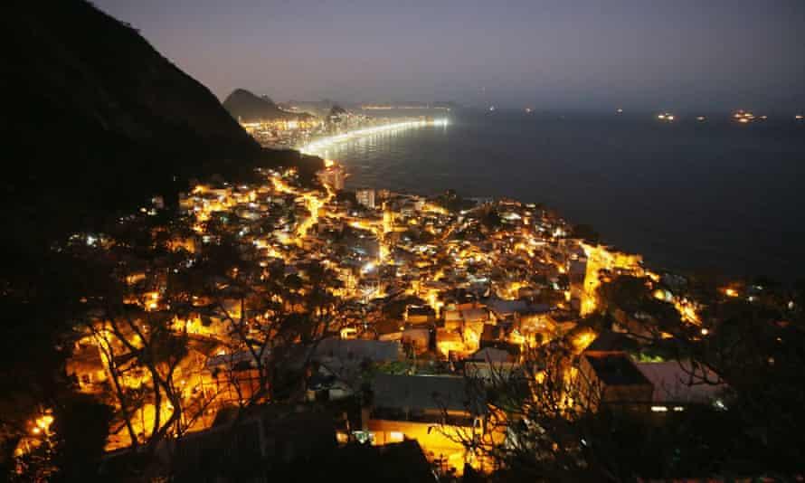 The Vidigal favela in Rio de Janeiro