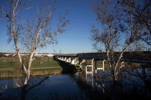 A view of the International bridge on the border in Piedras Negras