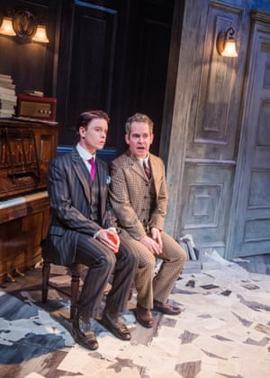 'Gloriously over-the-top': Freddie Fox as Tristan Tzara with Tom Hollander's Henry Carr.