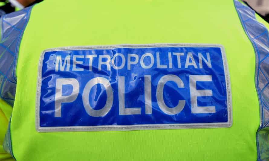 Metropolitan police logo on a jacket