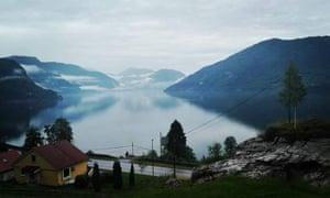 the fjordside village of Naustdal, western Norway.