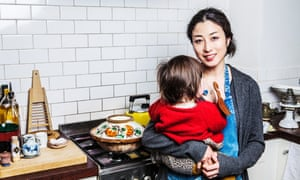 Shuko and Kotoko at their home in London.