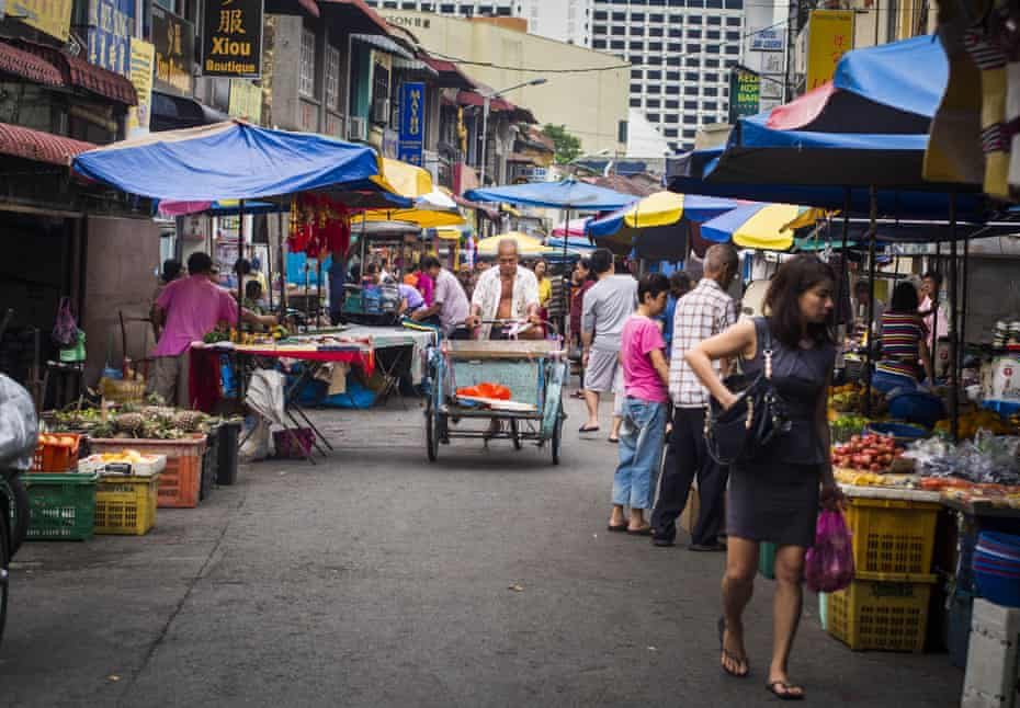 A market in George Town, Penang, Malaysia.