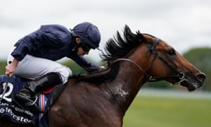 Cape Of Good Hope on his way to victory at Epsom under the ride of Ryan Moore.