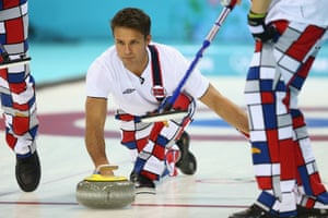 Thomas Ulsrud of Norway in action in Sochi