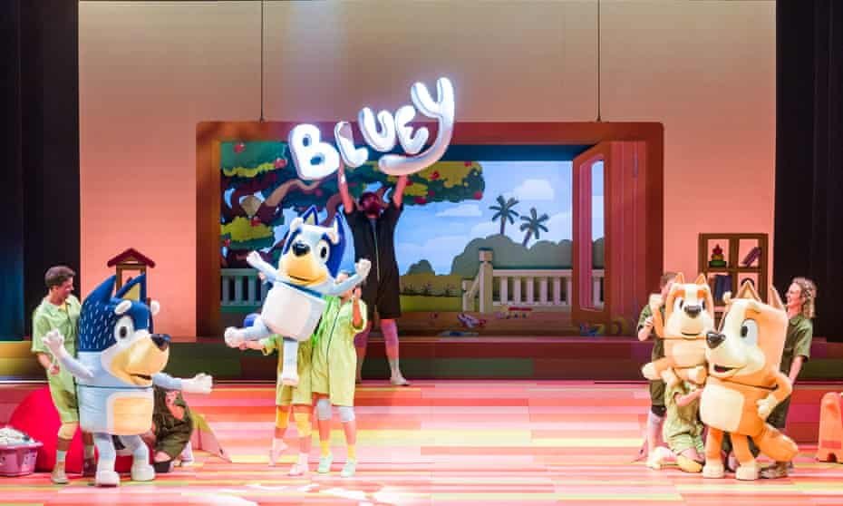 A production shot from the opening night of Bluey's Big Play, which premiered at Qpac in Brisbane on 22 December 2020