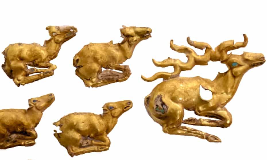 Recent discoveries … gold_deer plaques.