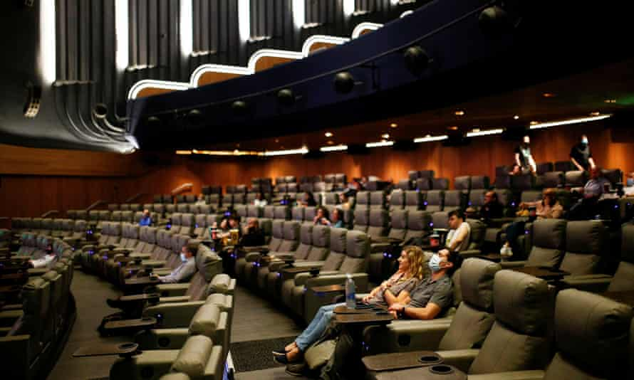 The Odeon Luxe Leicester Square on the opening day of Tenet.