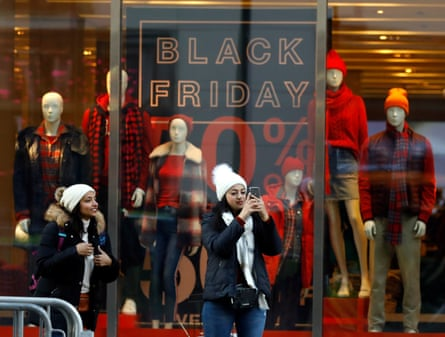 'Black Friday' holiday shopping in NYC in 2019. Major stores like Walmart, Target and Best Buy announced they will not open stores on Thanksgiving evening.
