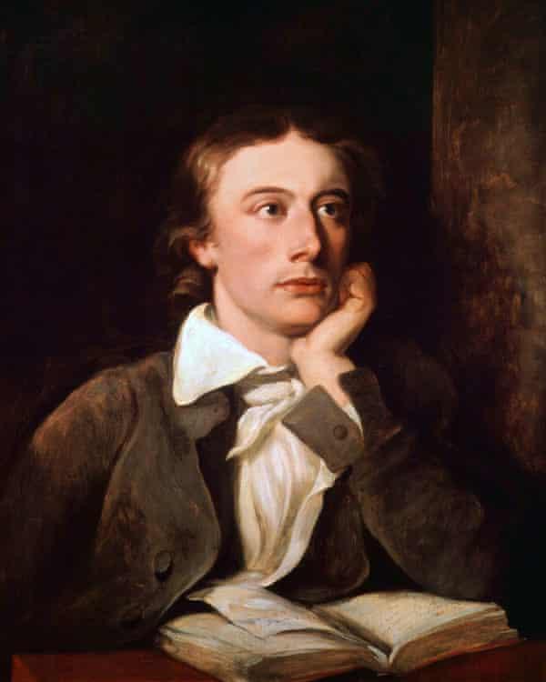 John Keats, in an 1822 portrait by William Hilton.