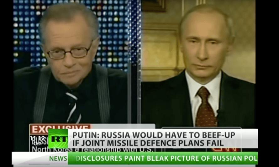 Larry King interviewing Vladimir Putin on RT