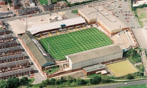 Half of the away end at Burnden Park was taken up by a supermarket.