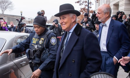 Veteran Republican operative Roger Stone was convicted by a 12-member jury in November of lying to Congress, obstruction and witness tampering.