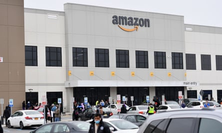 Workers at Amazon's Staten Island warehouse walked off the job in March.