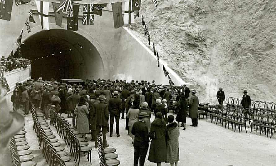 the opening of the Mount Victoria Tunnel in 1931, Wellington, New Zealand.