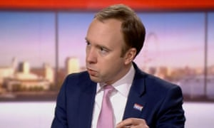 Matt Hancock speaking to Andrew Marr