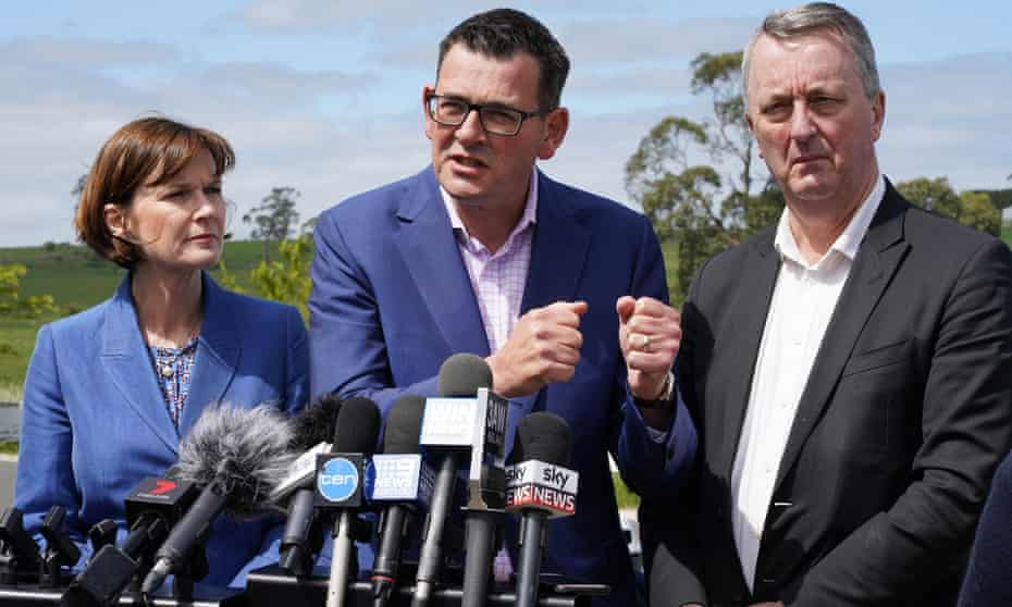 Daniel Andrews, Mary-Anne Thomas and Martin Foley
