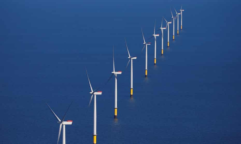 The government has thrown its weight behind the offshore wind sector.