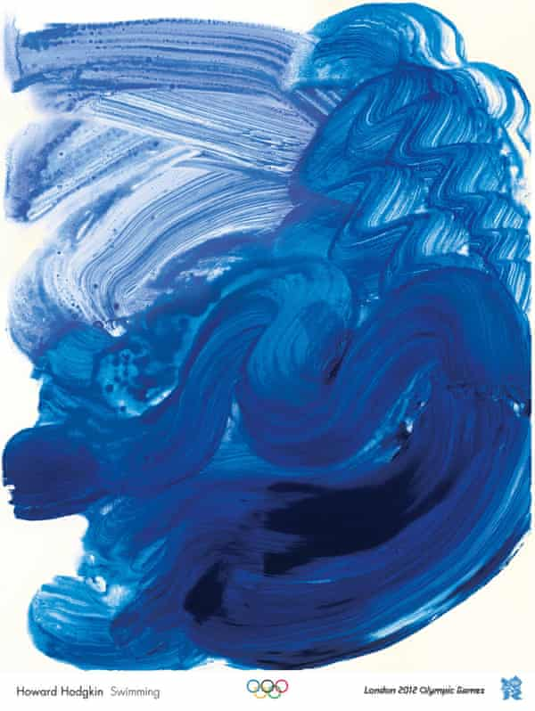 Sensual … Swimming by Howard Hodgkin, one of the official London 2012 Olympic posters.