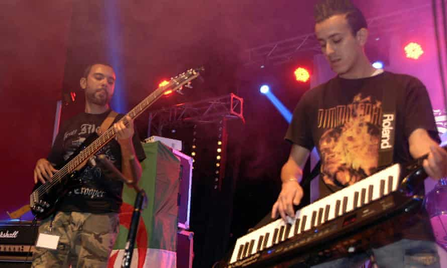Algerian rock group Traxxx play during the two-day Fest 213 rock and metal festival in Constantine.