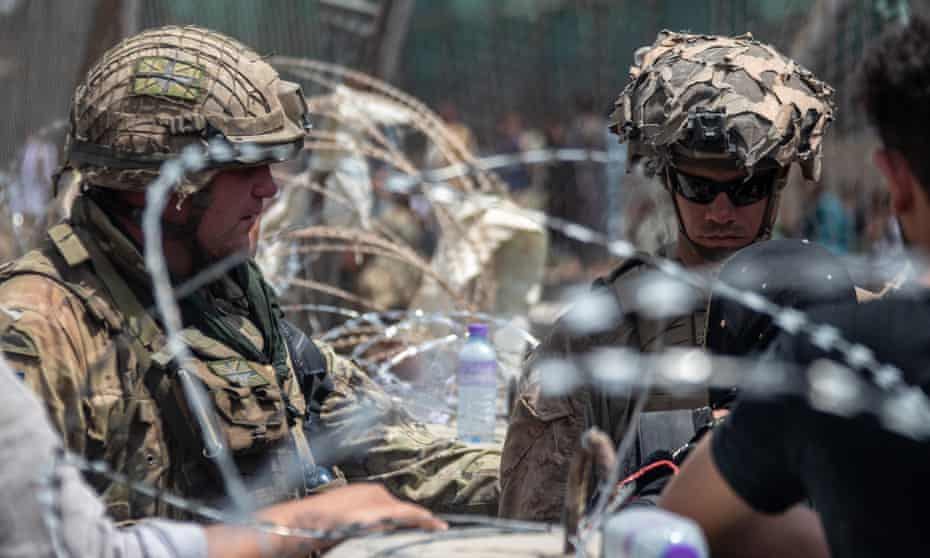 British armed forces working with the US military in Kabul to evacuate eligible civilians and their families out of Afghanistan.