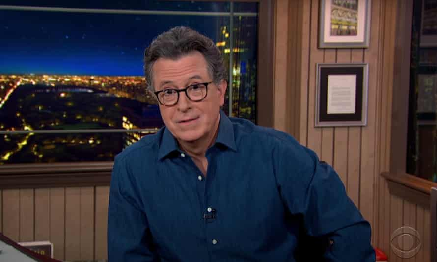 """Stephen Colbert on Ted Cruz's response to criticism for his trip to Mexico as constituents froze in Texas: """"He immediately swallowed his pride, pulled himself up by his own bootstraps and threw his daughters under a bus."""""""