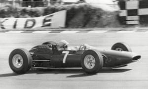 John Surtees practising at Brands Hatch in 1964.