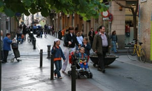 A pedestrian-friendly street in the Gràcia neighbourhood.