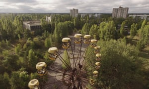 An abandoned ferris wheel in the town of Pripyat, which was abandoned after the accident.